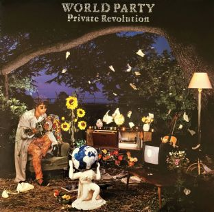 World Party - Private Revolution (LP) (VG-EX/VG)